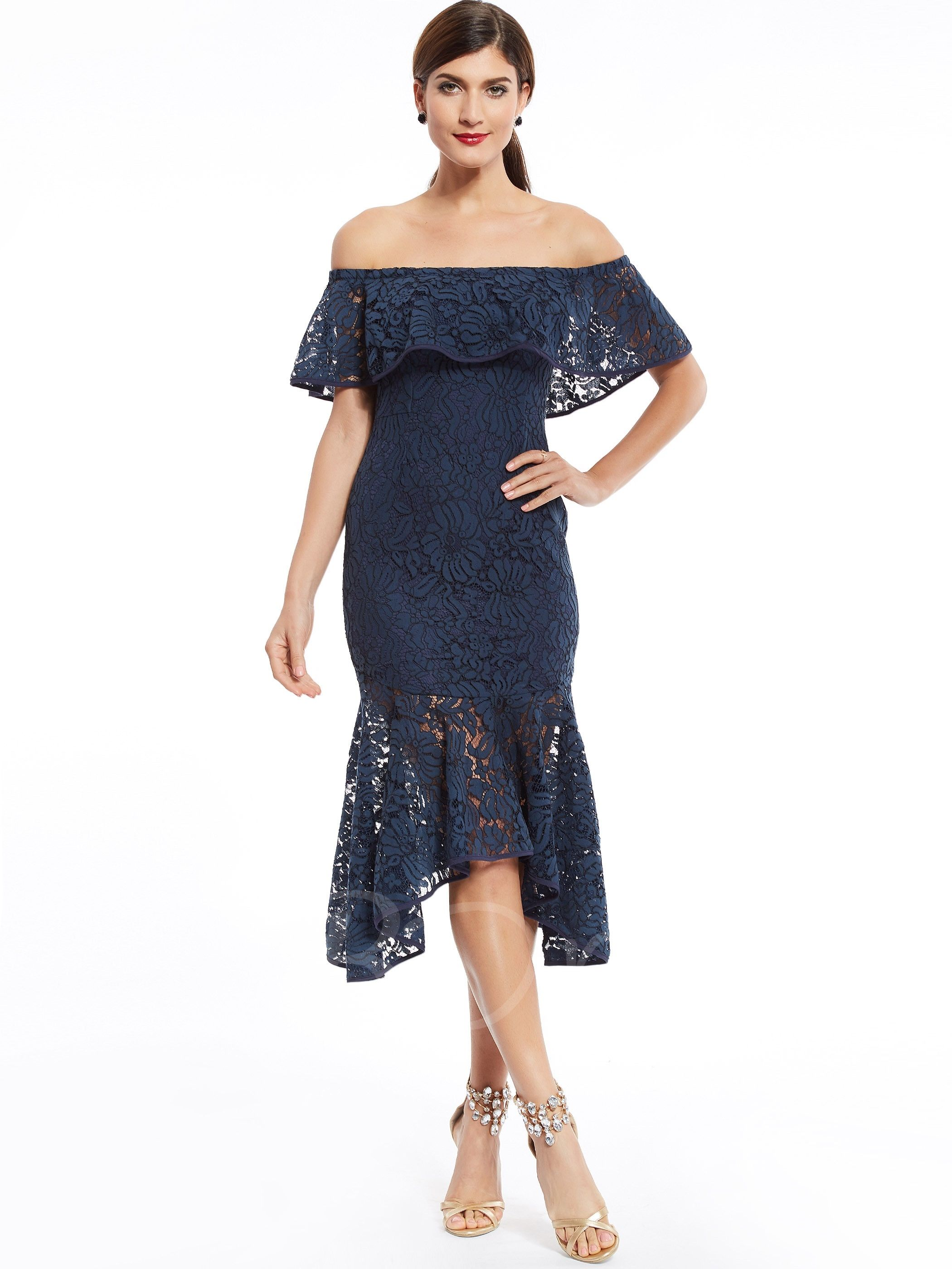 Off The Shoulder Lace Mermaid Evening Dress Mermaid Evening Dresses Short Cocktail Dress Cocktail Dress Lace