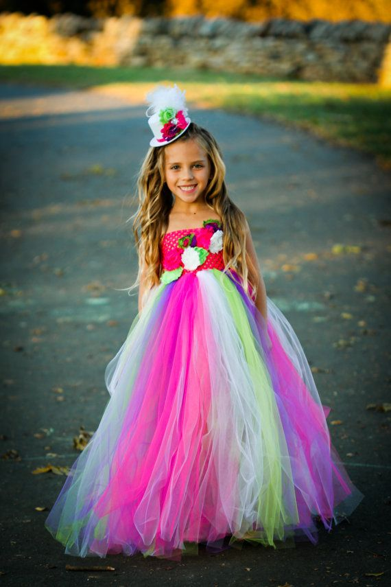 Carnival Party Tulle Tutu Dress by LilyAuroraBoutique on Etsy, $89.00