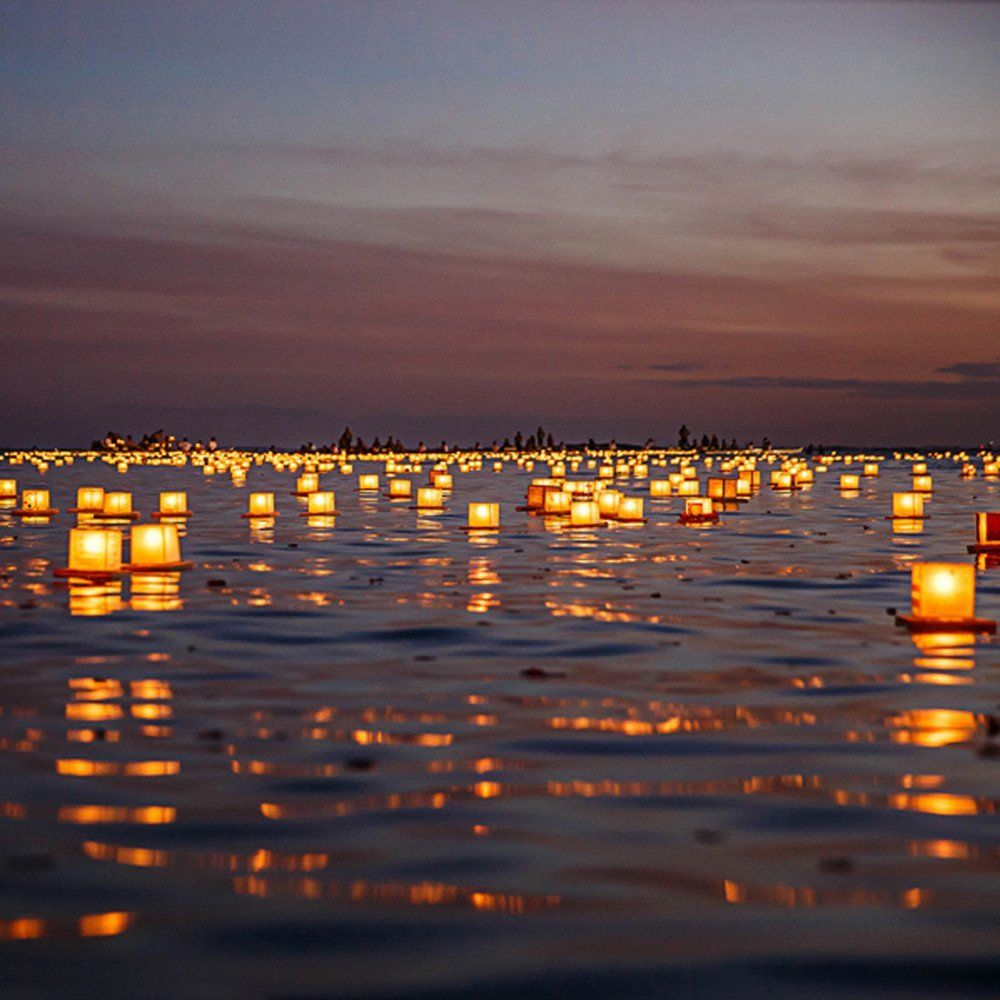 Water Floating Candle Lantern Floating Water Lanterns Floating Lanterns Wish Lanterns