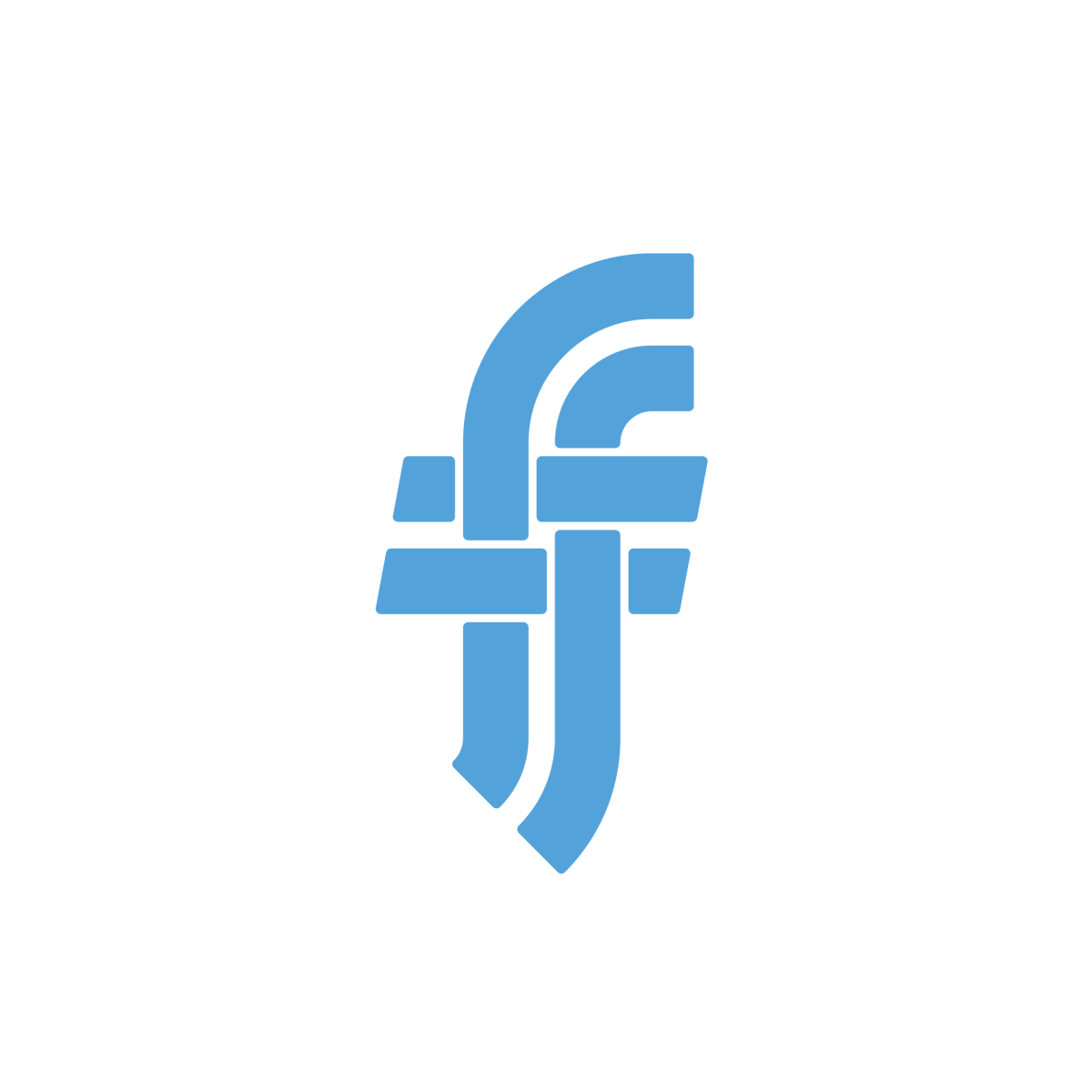 Flannel Logo Letter Logo Lettering Letter F