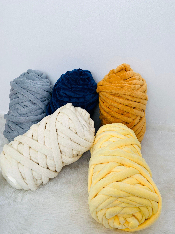 Velvet yarn, Chunky velvet yarn, Velvet Tube yarn, Hand knitting, Arm knitting