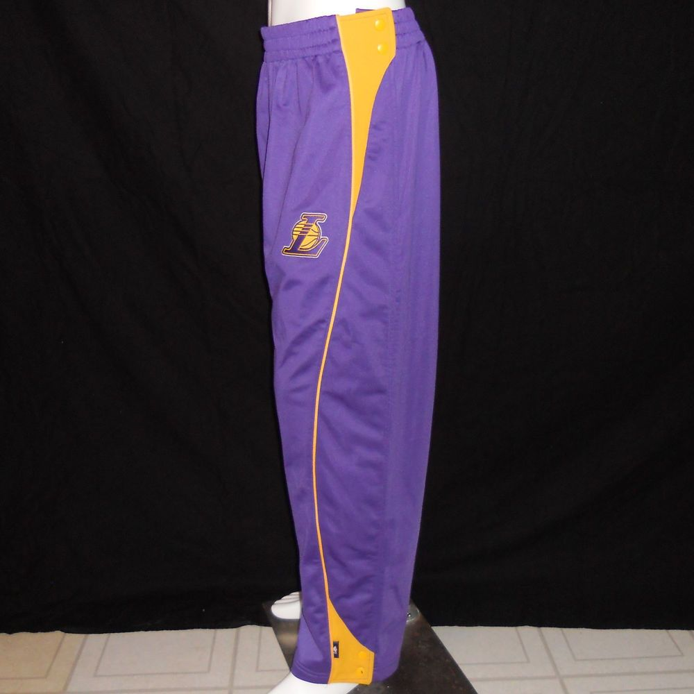 270b83a66 NBA Los Angeles Lakers Tear-Away Warm Up Pants Large Reebok Sweats  Breakaway #ReebokNBA #LosAngelesLakers