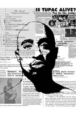 mynameisjz tupac shakur newsprint art print art works prints. Black Bedroom Furniture Sets. Home Design Ideas