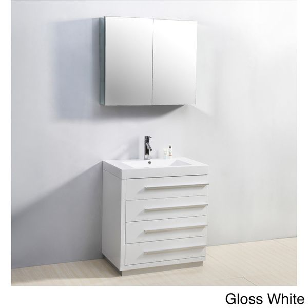 Virtu USA Bailey 30 Inch Single Sink Bathroom Vanity Set   Overstock™  Shopping