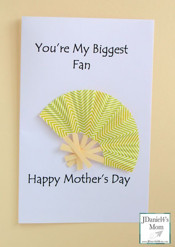 Mothers Day Cards Ideas For Children To Make Part - 21: Homemade Motheru0027s Day Cards- My Biggest Fan
