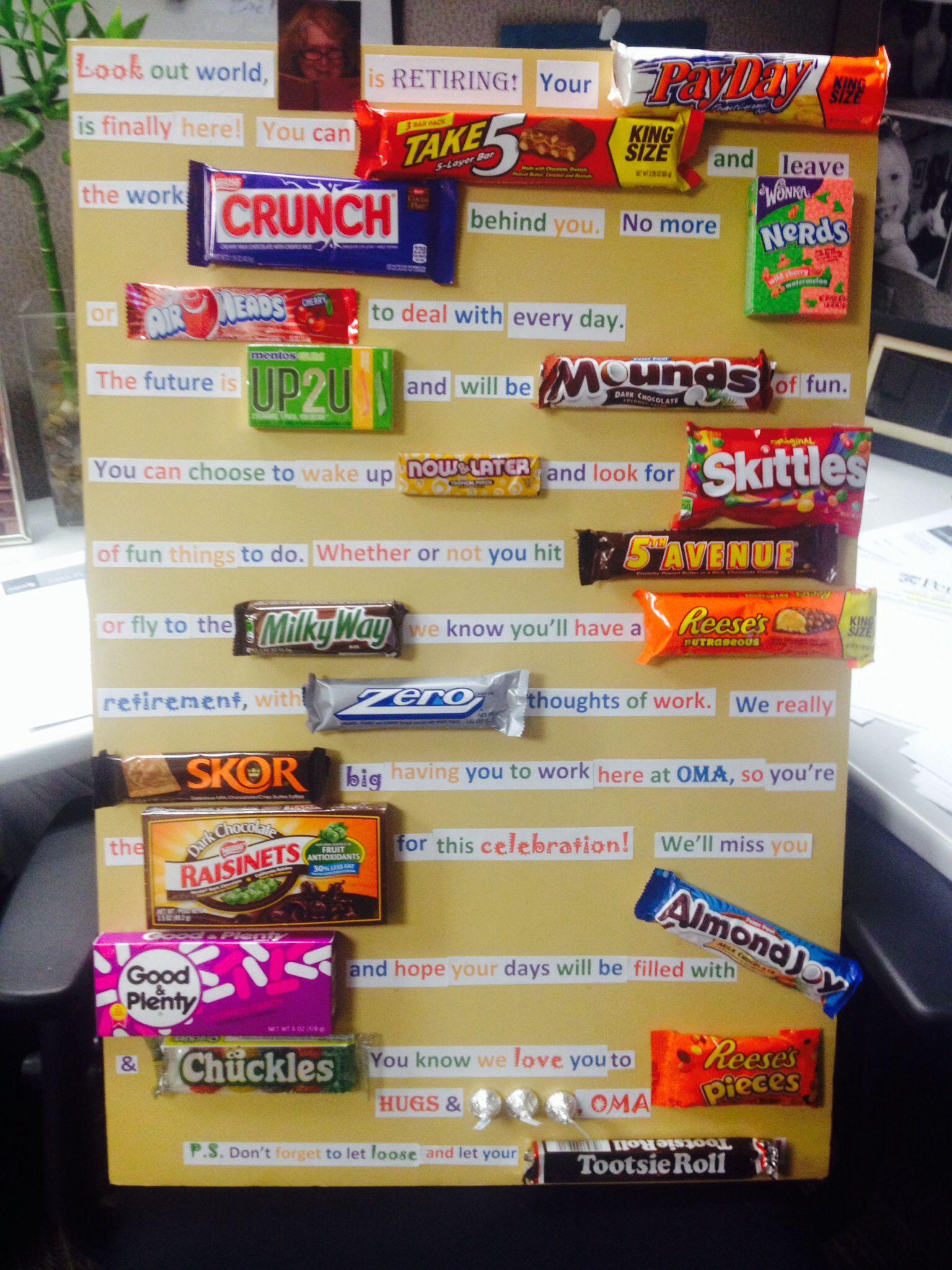 Retirement Candy Poem | Retirement Party | Pinterest ...