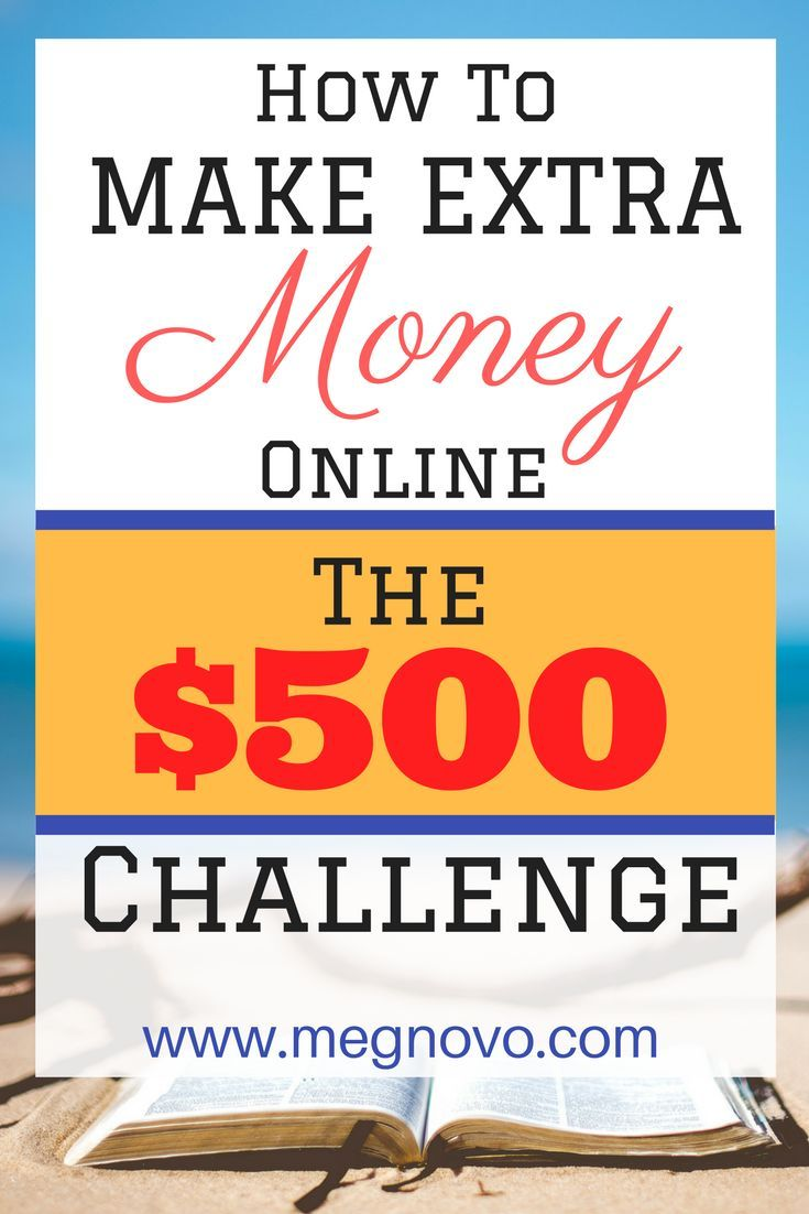 Accept the challenge and Make more than $500 in 20 days. Make extra money, side hustle, passive income.