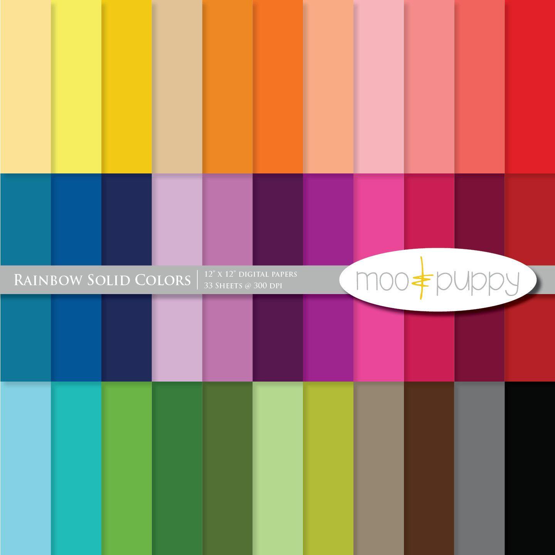 Scrapbook ideas download free - Digital Scrapbook Paper Pack Rainbow Solid Colors Sale Buy 2 Get