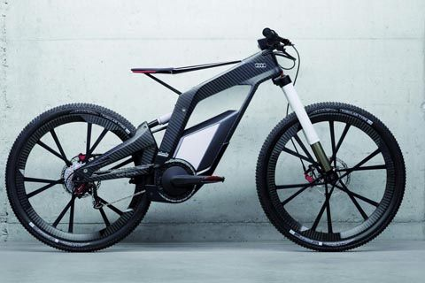 Audi E Tron Electric Bicycle Uses Carbon Fiber The 26 Inch Wheel Concept Is Propelled By A 2 3kw Motor And 530wh Lithium Battery For Total Weight Of Just
