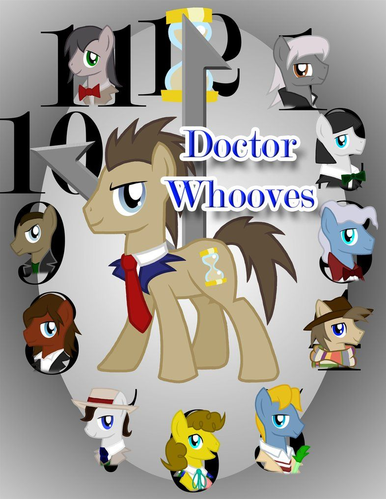 M is having a blast pointing out all the Doctor Whooves in My Little Pony Friendship is Magic. There's one in almost every episode.