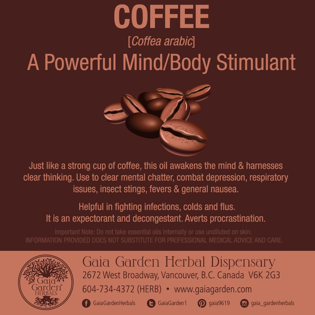 COFFEE [Coffea arabic] A Powerful Mind/Body Stimulant Just like a ...