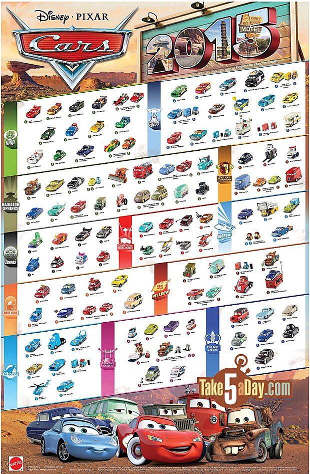Mattel Disney Pixar Cars Cars 2015 Poster New Diecasts Coming