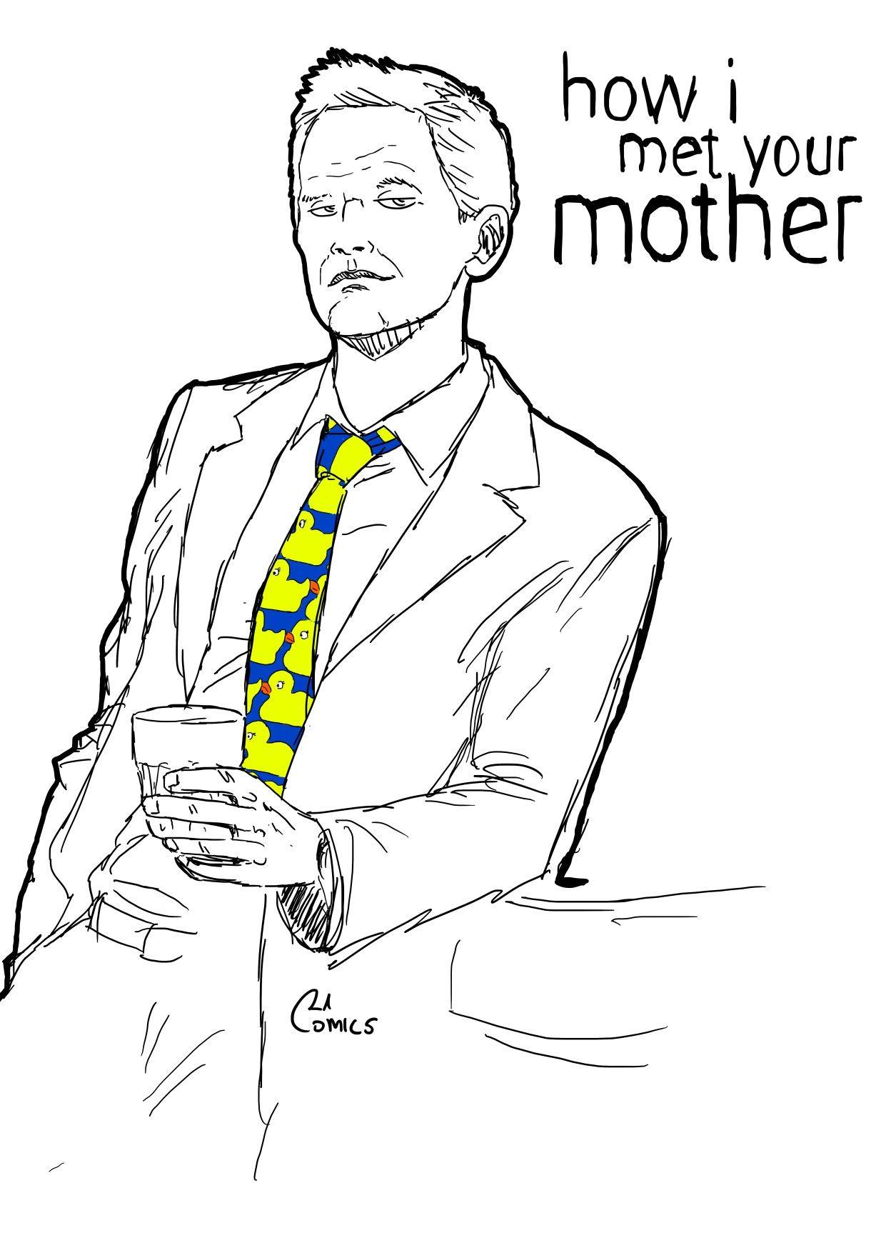 Barney Stinson How i met your mother artdrawcomicsgvcomics ...