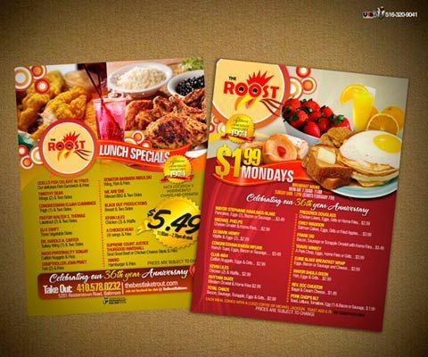 40 ejemplos de cartas de menu para restaurantes