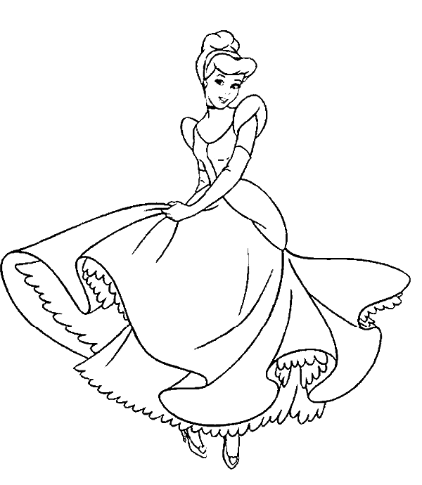 Pin By Vicki Rogstad Wittlake On Hello Kitty Cinderella Coloring Pages Disney Princess Colors Princess Coloring Pages