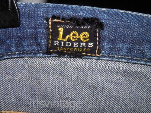 e67b6af0 Vintage-1950-039-s-Lee-Riders-101-Union-Made-Sanforized-Denim-Jeans -30x32-actual