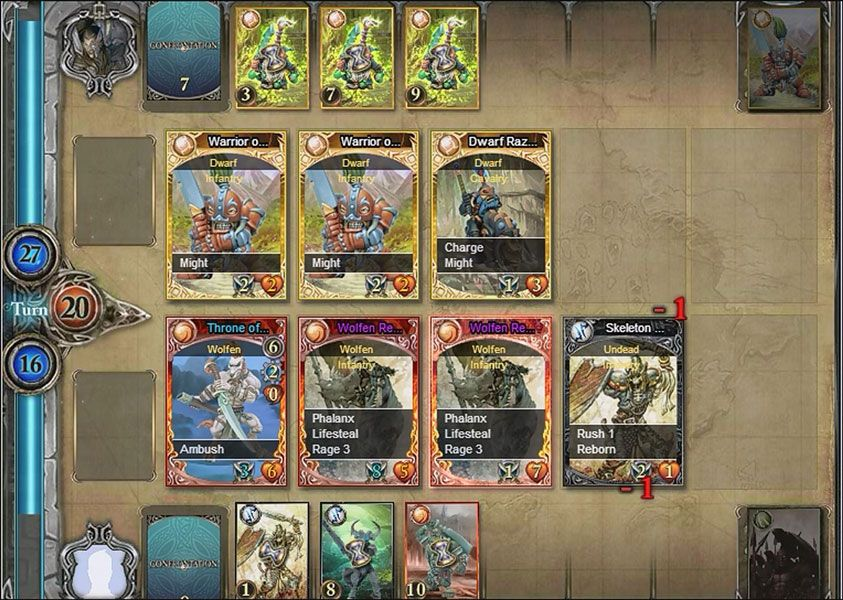 Confrontation Web Card Game is a Facebook based, web card