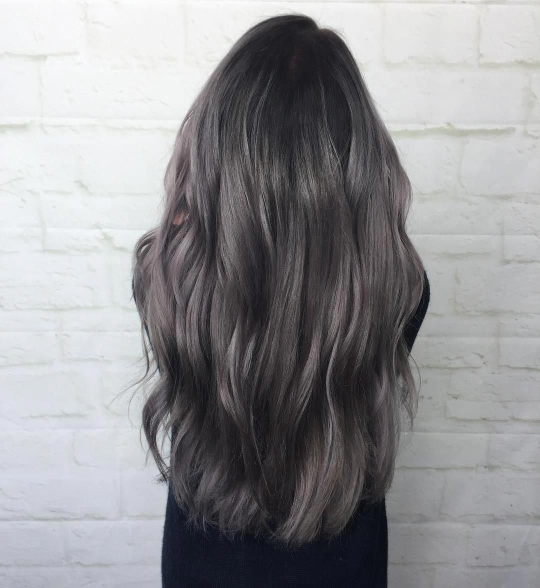 Dark Smoky Grey Aveda Hair Color By Aveda Artist Brittany Carven Haircolorgrey Aveda Hair Color Silver Hair Color Aveda Hair