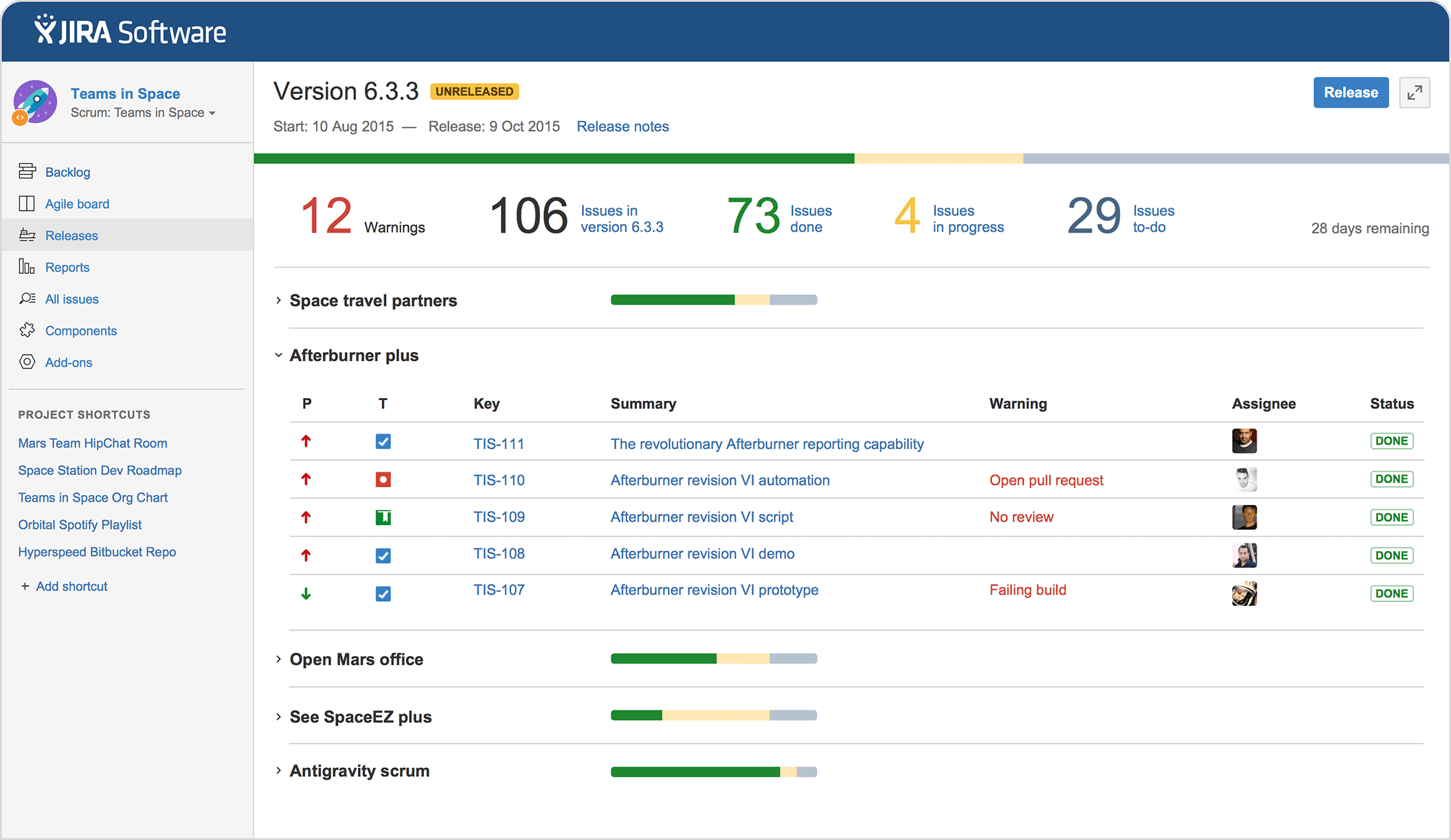 Jira Software Issue Project Tracking For Software Teams Project Tracking Software Project Management Dashboard Software