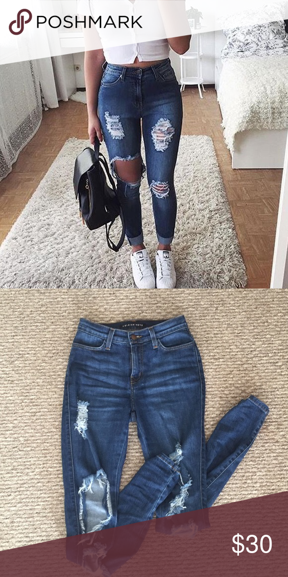 5e1ec165 Beach bum jeans Worn twice Fashion Nova Jeans Skinny | My Posh Picks ...