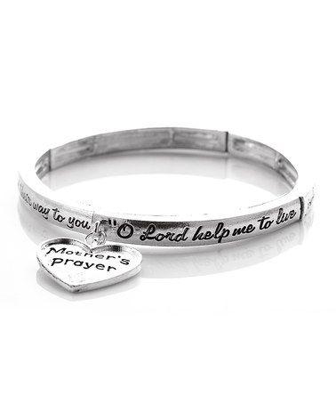 Silver Mother Prayer Stretch Bracelet by Evening Crystals #zulily #zulilyfinds