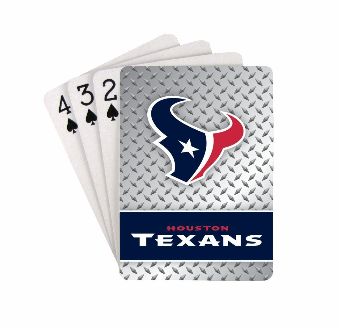 Houston Texans Diamond Plate Pattern Playing Cards