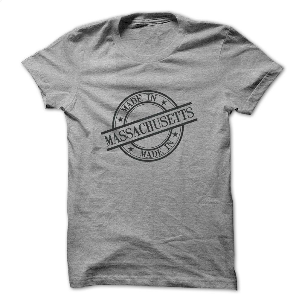 Made In Massachusetts Stamp Style Logo Symbol Black T Shirt, Hoodie, Sweatshirts - design a shirt #tee #clothing