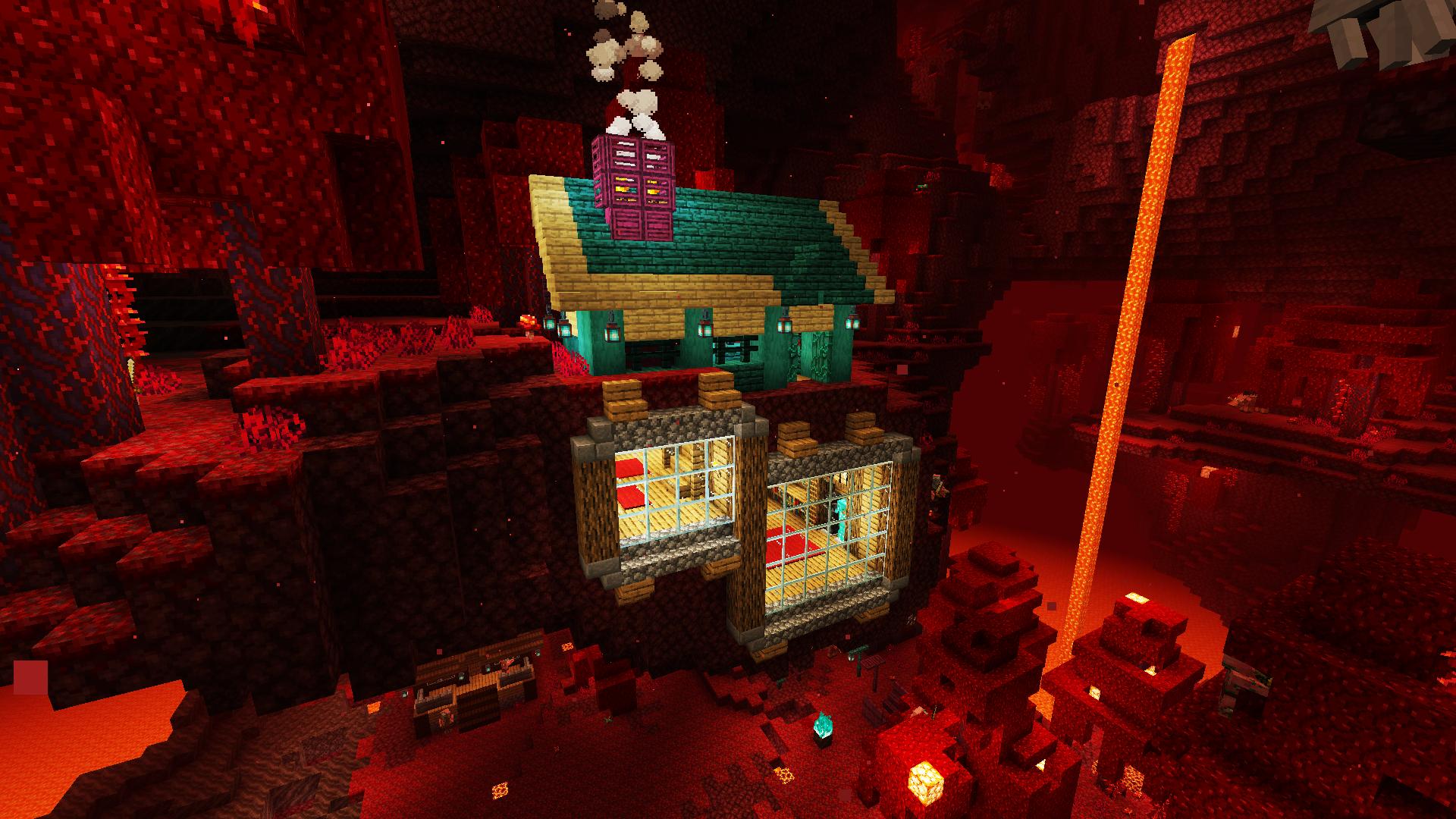 Minecraft Nether Update , Minecraft Nether Update  Construção de