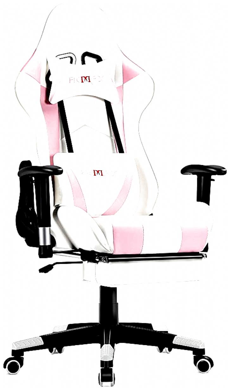 Songmics Gaming Stuhl Mit Fussstutze 150 Kg Burostuhl Schreibtischstuhl Lendenkissen Kopfkissen Hohe Ruckenlehne Ergonomisch St Gaming Chair Office Chair Chaise