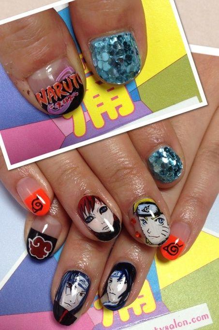 NARUTO shippuden. ITA-nail.   kawaii nails   Pinterest   Naruto ...