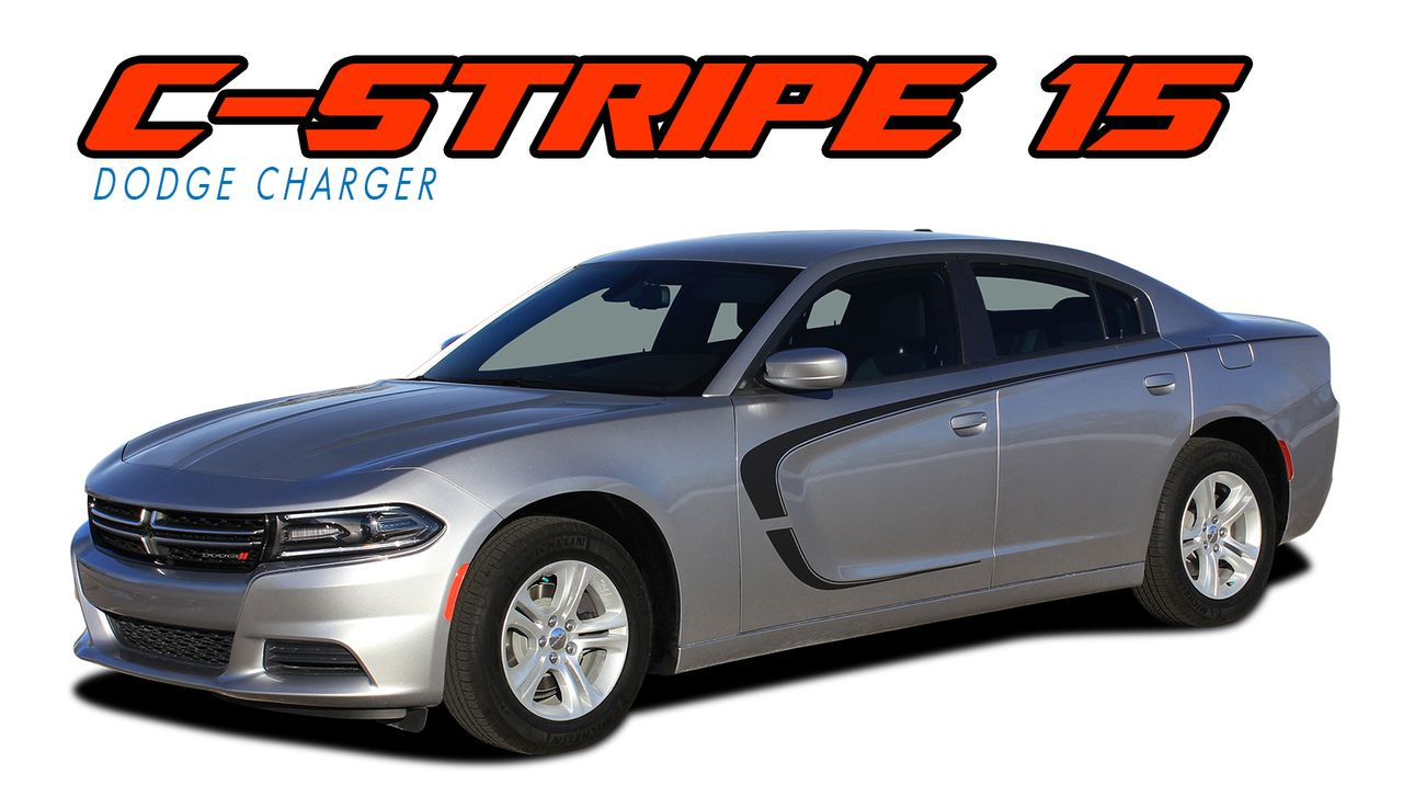 Dodge charger 2015 2016 2017 2018 c stripe side door oem style vinyl graphics decals and stripes kits model specific car truck vinyl graphics racing