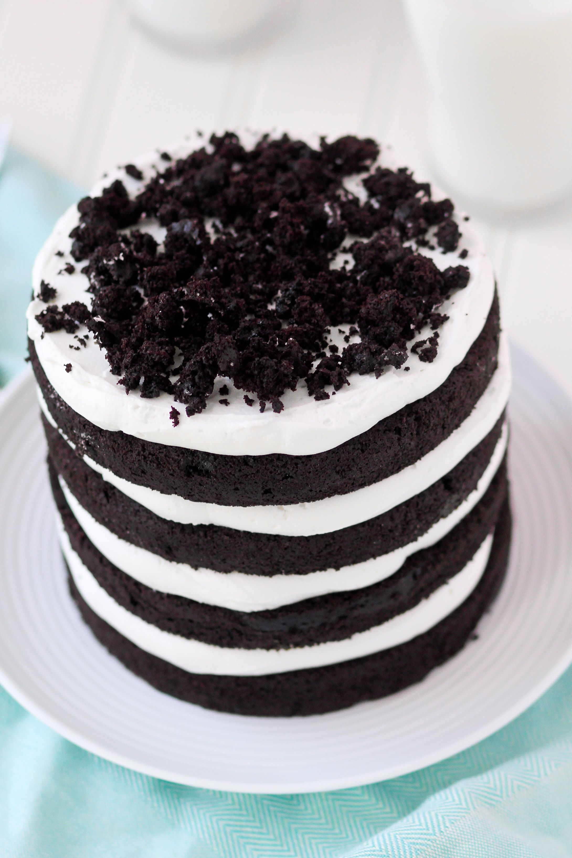Oreo Cookie Layer Cake Food Favorite Recipes Pinterest