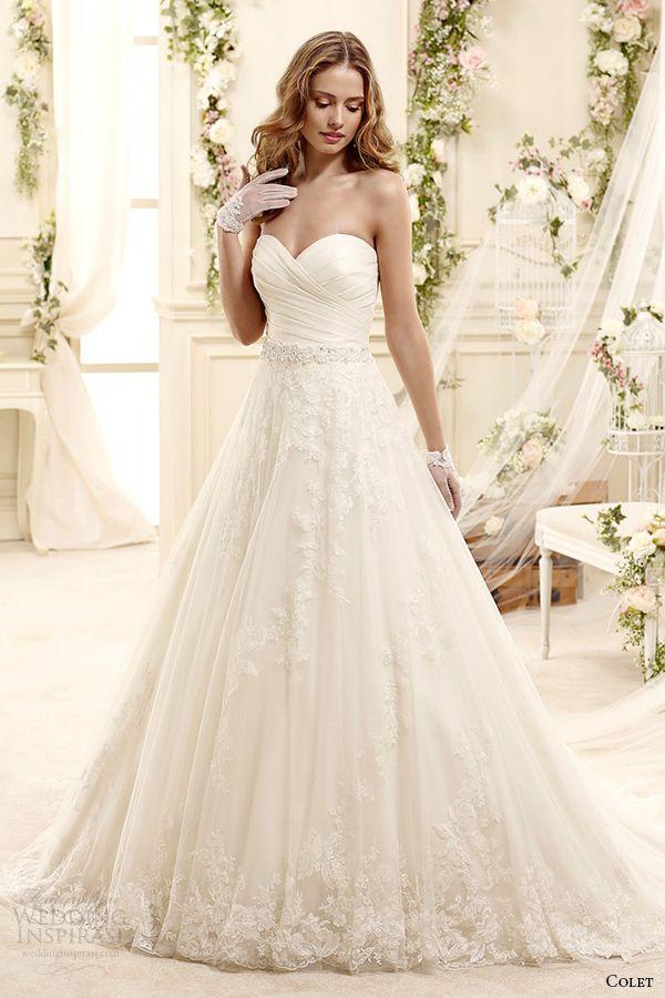 colet bridal 2015 style 43 coab15313iv strapless sweetheart neckline a line wedding dress