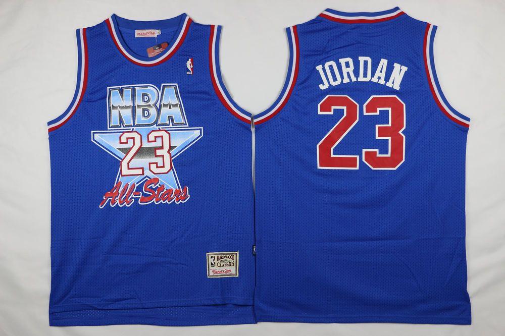 big sale 81f6e 2e31b Details about Michael Jordan #23 Blue Men's 1993 Throwback ...