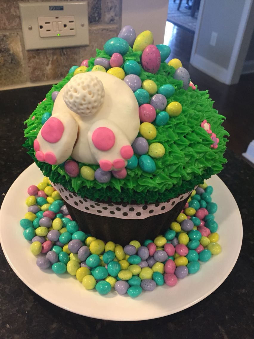 Giant Easter Cupcake Large Cupcake Cakes Easter Cupcakes Giant