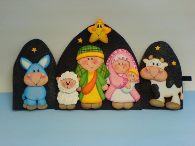 Pesebre goma eva celebraciones navidad pinterest - Belen navidad manualidades ...