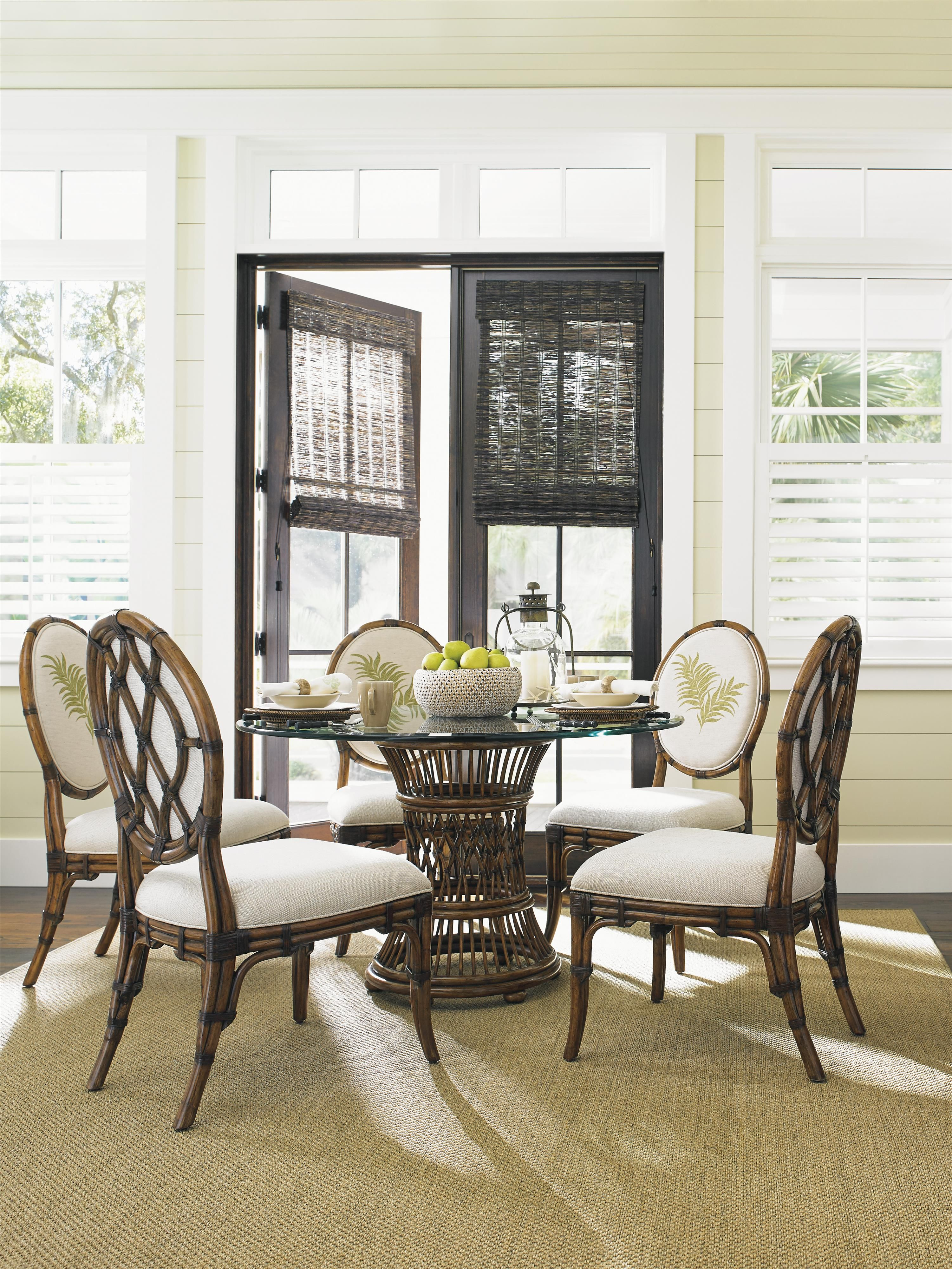 Make Your Home A Tropical Paradise With This Dining Room Set Simple Tropical Dining Room Chairs Inspiration Design