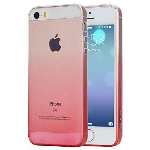 $3.99 (43% Off) on LootHoot.com - iPhone SE Case, ROCK® MOOST [Iris Series] Gradually Change Color Soft TPU Protective Case for iPhone SE / iPhone 5s(Clear Pink)