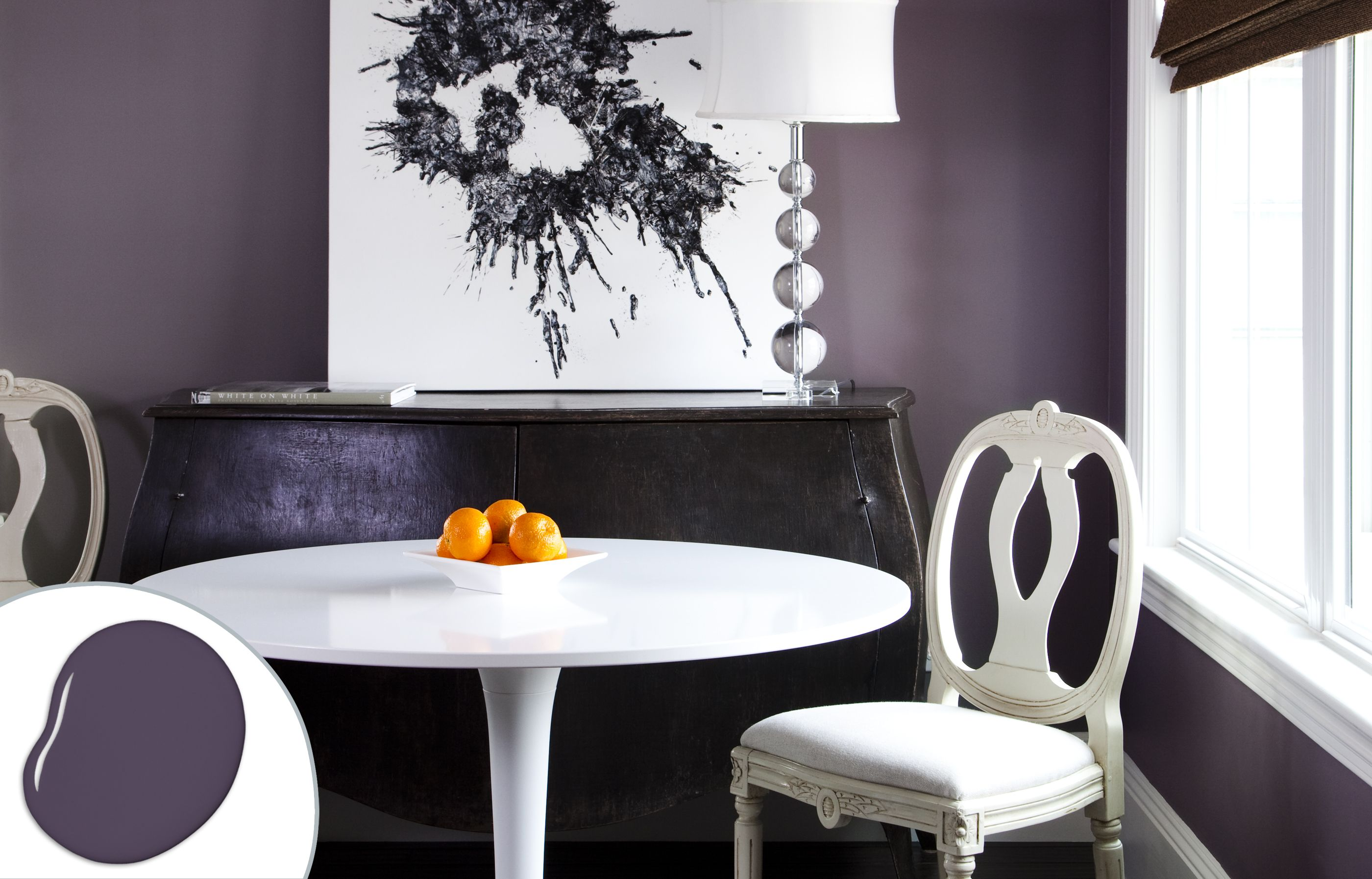 dining room color ideas Charcoal Purple