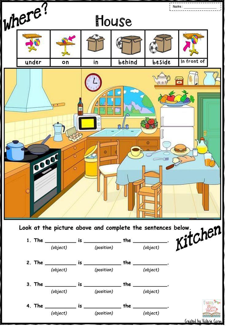 In The Kitchen Room Worksheets Ile Ilgili Grsel Sonucu Tek Kart