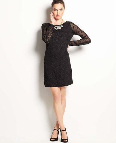 b1e287c8b9 Petite Sheer Dot Shift Dress