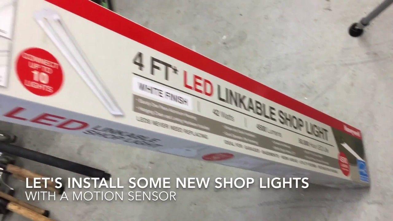 How To Costco Amazon Led Shop Garage Lights With Motion Sensor Led Shop Lights Garage Lighting Motion Sensor