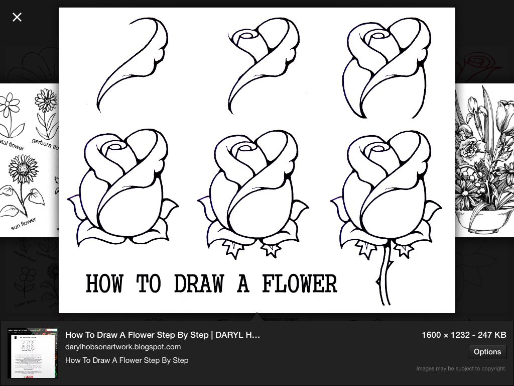 An easy way to draw a Flower.