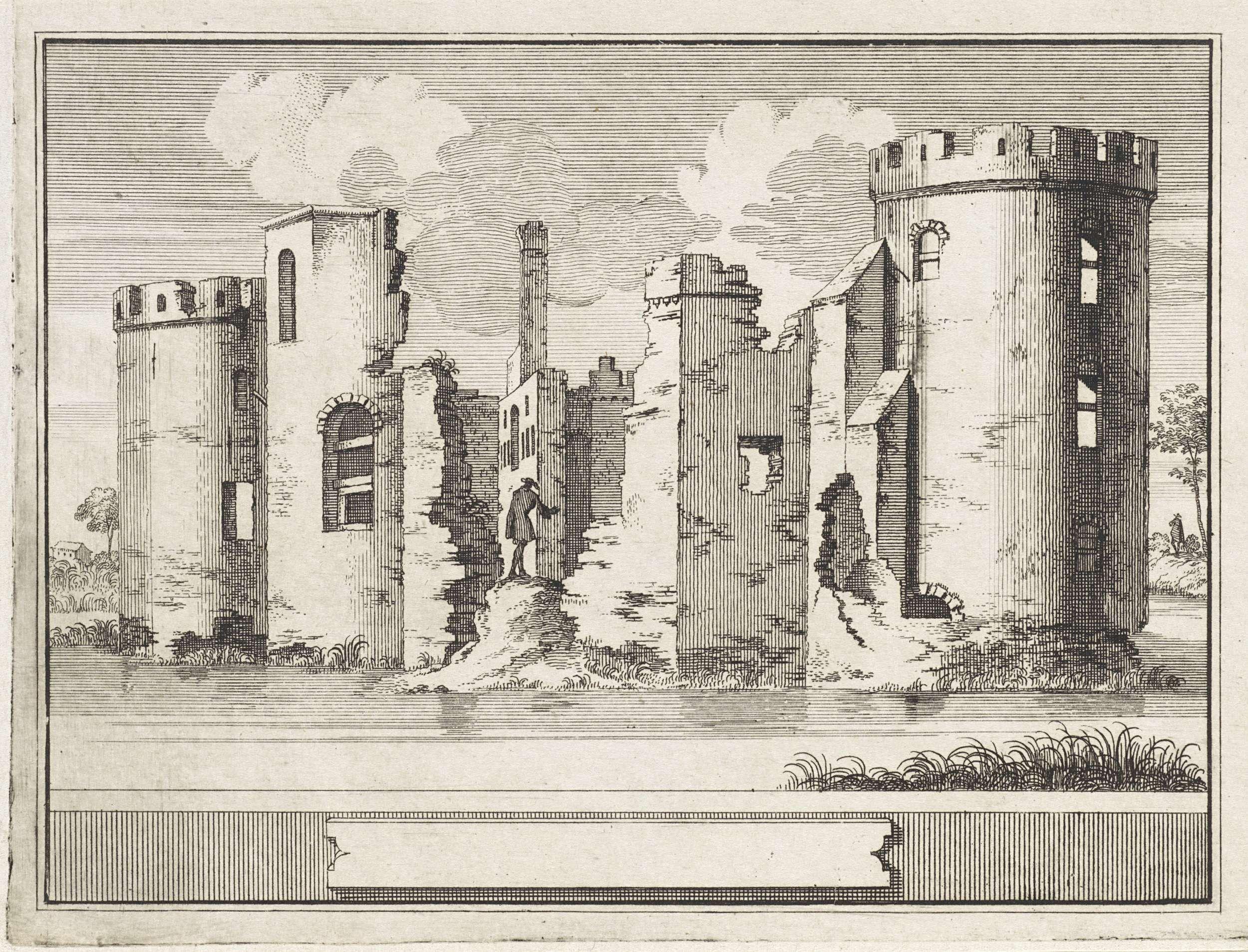 Jacobus Schijnvoet | Gezicht op de ruïne van het Slot Abcoude, Jacobus Schijnvoet, 1711 - 1774 |