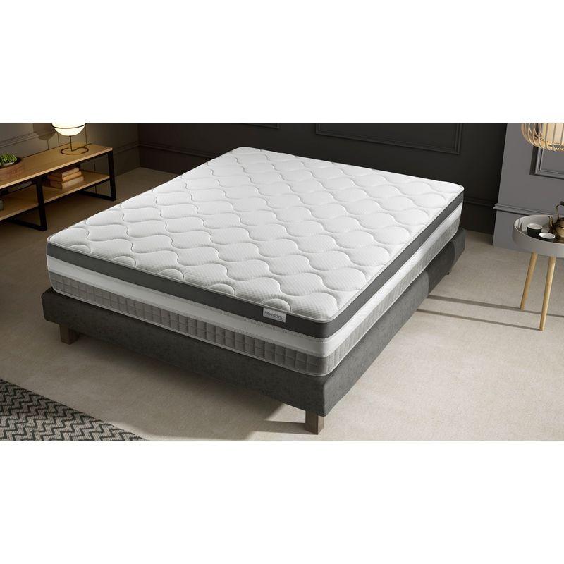 Ensemble Matelas Memoire De Forme Sommier 160x200 Confort Royal Hbedding 7 Zones De Confort Epaisseur Matelas 30cm 9299 Mattress Furniture Bed