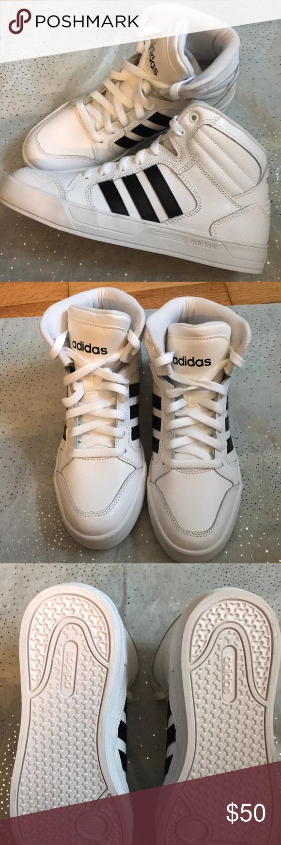 c19053741a34 Adidas Hightop White Navy Stripe - Stickers on! Hightop Adidas ...