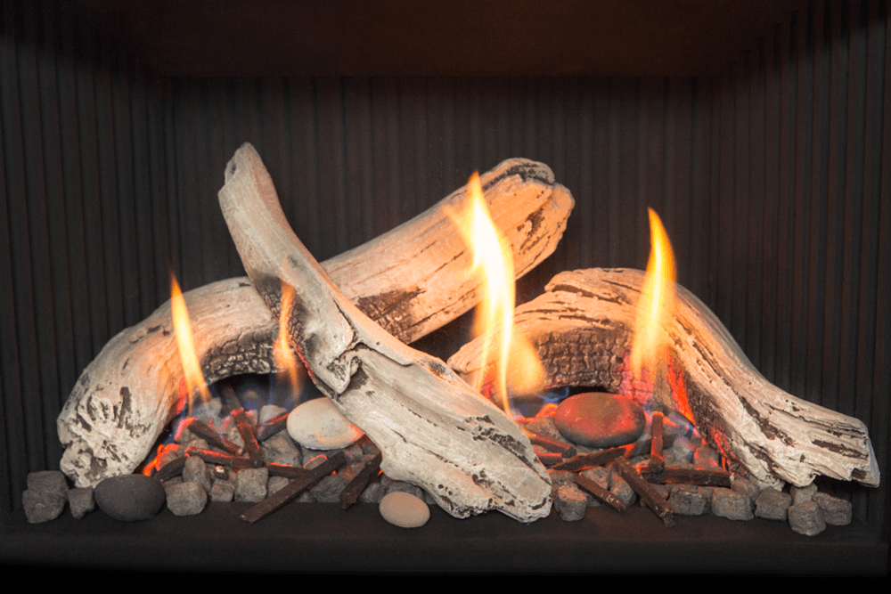 Driftwood Fuel Bed Gas Fireplace Gas Fireplace Logs Natural