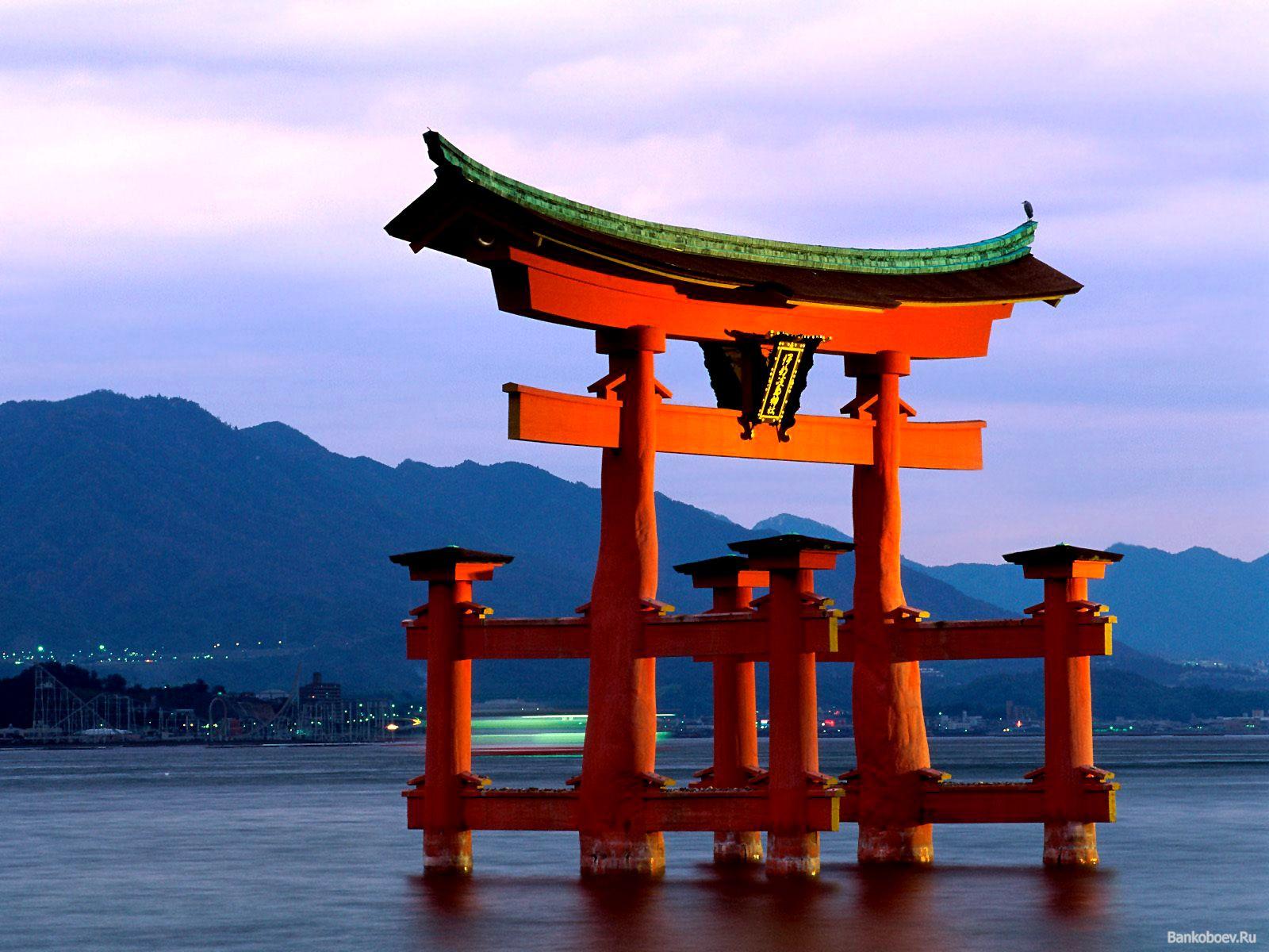 porte japonaise tori japon paysage