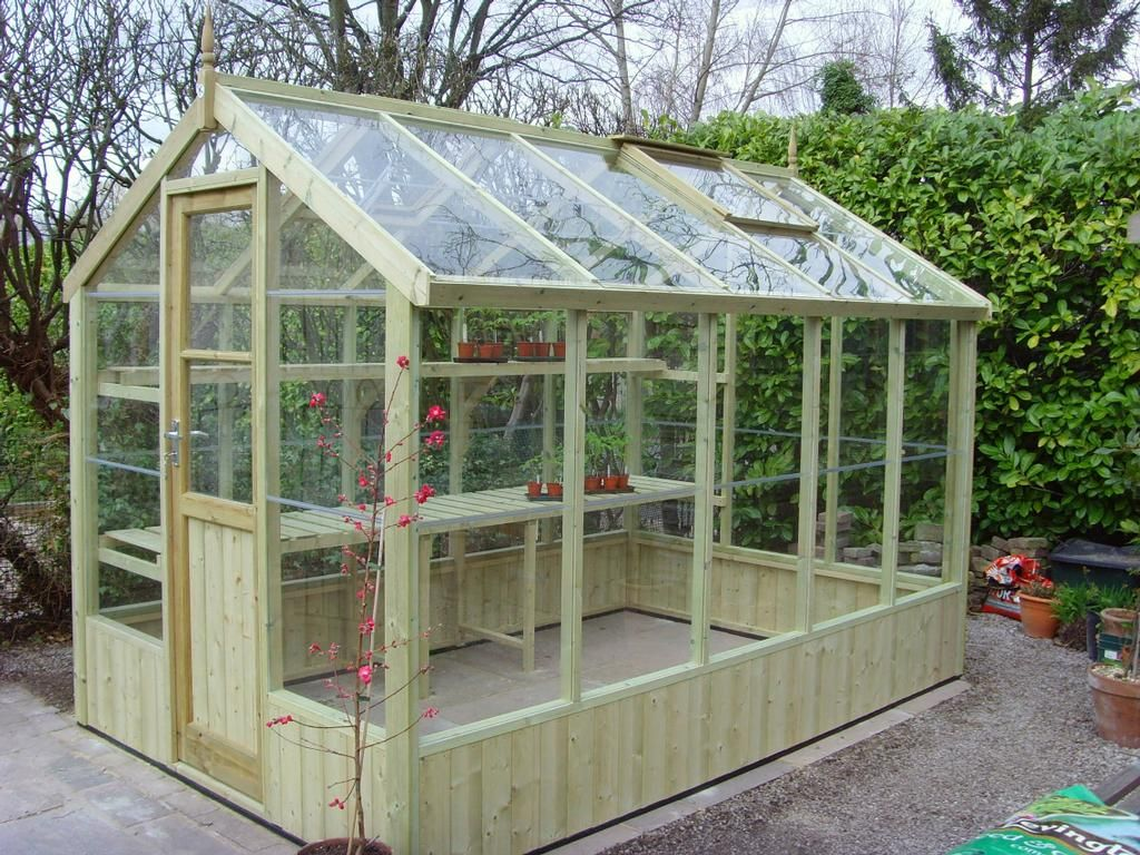 swallow kingfisher wooden greenhouse with free installation kingfisher x timber greenhouse includes toughened glass autovents and locking door - Garden Sheds With Greenhouse