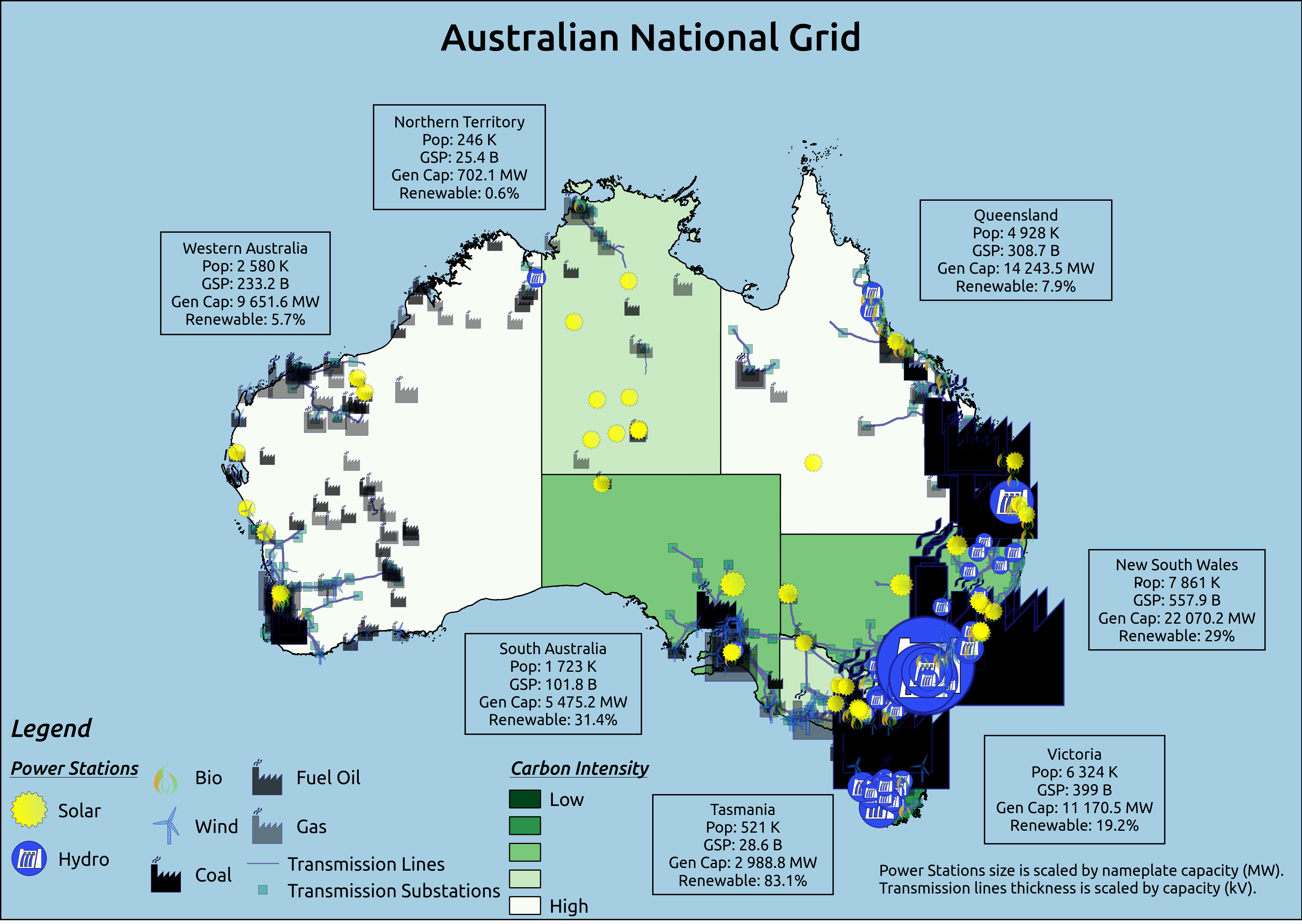 Australia Power Grid Map.Pin On Maps Of Australia Australasia